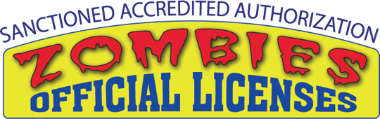 header for Zombie Licenses that reads 'Sanctioned Accredited Authorization - Zombies Official Licenses'