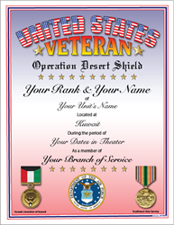 Operation: Desert Shield Veteran
