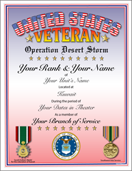Operation: Desert Storm Veteran 1