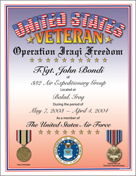 Operation: Iraqi Freedom Veteran
