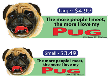 ... The More I Love My Pug pug, pugs, dog, dogs, love, my