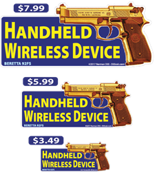 Handheld Wireless Device - Beretta deecal, deecals, warning, handheld, wireless, device, wireless device, warning, shot, shots, warning shots, Beretta92FS, Beretta, 92FS, 92