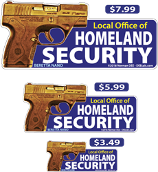 Homeland Security deecal, deecals, local, office, local office, homeland, security, homeland security, warning, shot, shots, warning shots, beretta, nano, beretta nano