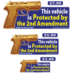 2nd Amendment Vehicle deecal, deecals, vehicle, car, automobile, protect, protected, 2nd, second, amendment, 2nd amendment, second amendment, warning, shot, shots, warning shots, BerettaPX4, Beretta PX4, Beretta, PX4 Beretta PX4 Storm, Beretta Storm, PX4 Storm, Storm