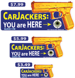 CarJackers: You Are Here deecal, deecals, car, carjack, carjacker, car jack, jacker, jacked, jackers, theft, stolen, stole, you are here, you, here, warning, shot, shots, warning shots, Glock17M, Glock 17M, Glock, 17M, 17, M